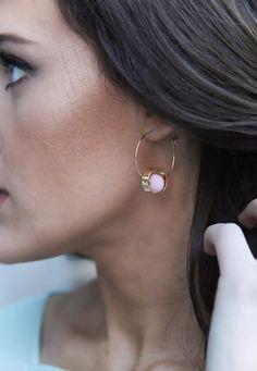 Adorable pink pom earrings!