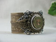 steampunk: bullet casing jewelry--winchester 12 gauge shotgun shell...etsy/thekeyofa