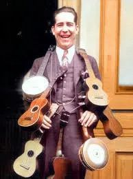 These days we would say this man has Ukulele Acquisition Syndrome! Colorized by Steve Smith Colorized History, Steve Smith, This Man, Ukulele, How To Wear
