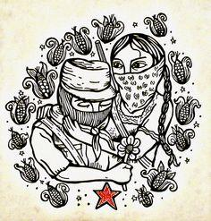 lapinchecanela: Amor y Rebeldía, artist unknown Chicano Studies, Chicano Art, Stencil Art, Stencils, Arte Latina, Powerful Art, Hand In Hand, Rocky Horror Picture, Political Art