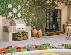 unusual phoenix home and garden. An unusual mix of succulents adds a burst color to patio garden  Playing With Plants Phoenix Home Contemporary Southwestern Garden Patio Exterior Design Best