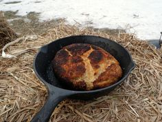 Baking in the Wild: How to Make Bannock Bread -1 cup flour (white or a mixture of white and whole wheat)  1 tsp. baking powder  1/4 tsp. salt  1/4 cup dry milk powder  1 tbsp. shortening