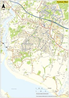 Cycle routes in Fareham