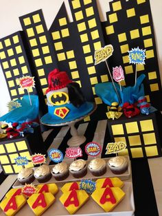 Super Heroes Birthday Party Ideas | Photo 2 of 8 | Catch My Party