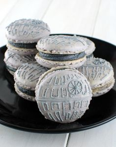Star Wars Death Star Macarons