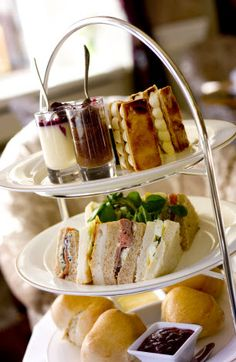 Afternoon Tea at Shelbourne Hotel in Dublin, Ireland.
