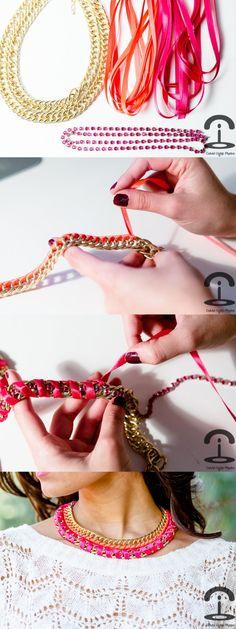 Ideas paso a paso para realizar este hermoso collar doble