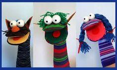 Resultado de imagen para titeres de margarita patino Puppet Crafts, Sock Crafts, Diy And Crafts, Arts And Crafts, Sock Puppets, Hand Puppets, Finger Puppets, Diy For Kids, Crafts For Kids