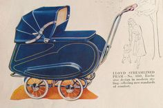 LLoyd Streamlined Pram Had one of these I used to push my baby sister in on walks.