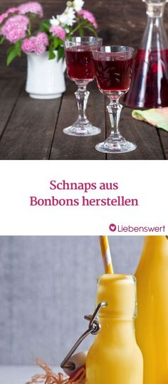 So geht Schnaps aus Eisbonbons, Nimm2 und Werther's Original Alcoholic Drinks, Cocktails, Glass, Food, Ice Candy, Candy Making, Alcoholic Beverages, Little Gifts, Diy Crafts
