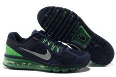 Mens Nike Air Max 2013 Blackened Blue Reflective Silver Poison Green Shoes           #sport #shoes