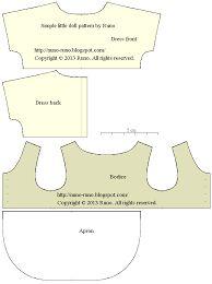 Resultado de imagem para molde de roupas para tildas