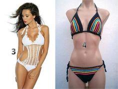 trajes de baño bikinis trikinis tejidos en crochet | Juarez | iBazar | 100754299