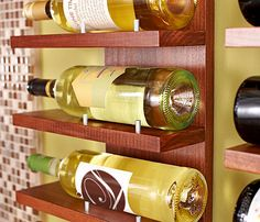 Fine Lines Wine Rack  Combine convenient storage with wall art. This sleek 6-bottle wine rack is a perfect fit in the kitchen or dining room.