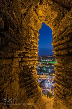 Tbilisi from cave by Stanislav_Horbovtsov