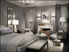 Nice Transitional Master Bedroom Best Transitional Bedroom Design Ideas Remodel Pictures Houzz in Home Interior Design Reference Master Bedroom Design, Dream Bedroom, Home Bedroom, Girls Bedroom, Bedroom Designs, Bedroom Furniture, Grey Bedrooms, Master Bedrooms, Bedroom Photos
