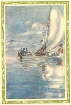 """""""The Pilot and the Pilot's boy"""" from The Rime of the Ancient Mariner"""", Willy Pogany"""