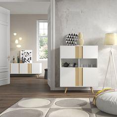 Aparador de estilo nórdico. http://www.aristamobiliario.es/25-muebles-aparadores