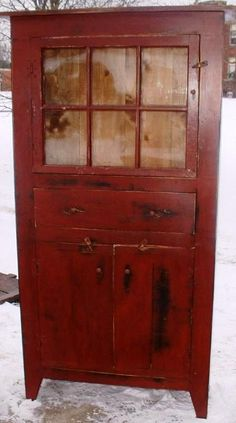 rustic primitive hutch - Yes, I could use this...love the color, love the design...love, love ~♥~