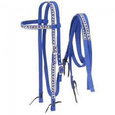 Nylon Browband Headstalls and Reins with Printed Overlay