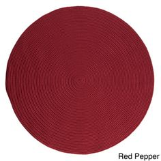 Anywhere Stain-resistant Outdoor Rug (6' x 6') - Overstock™ Shopping - Great Deals on Colonial Mills Round/Oval/Square