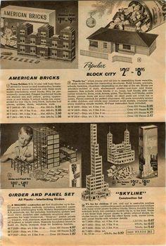 1958 Advert Toy Skyline Construction American Bricks Tinkertoys Panel Builder   eBay