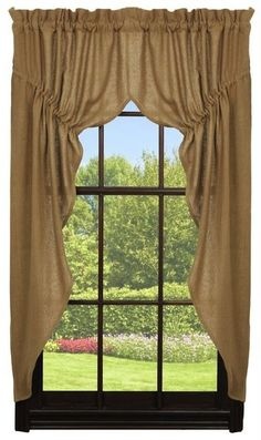 Burlap Prairie Curtains 72 x 63
