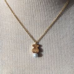 Bear Pearl Necklace Stainless steel high quality! This is an inspired fashion piece Tous Jewelry Necklaces