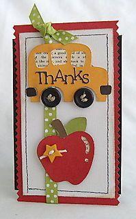 Cricut card for a teacher