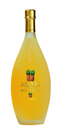 This exquisite romantic liquor is obtained by  mixing natural fruit juices of Pineapples  and white grappa from Veneto  from  Venice Italy.