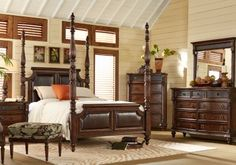Shop For A West Indies Cove King Walnut 6Pc Upholstered Bedroom At Rooms To  Go. Find Bedroom Sets That Will Look Great In Your Home And Complement The  Rest ...