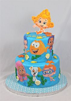 Birthday Cake @lindsay corrigan this would be so cute for Kenzie for her 2nd birthday since she loves Bubble Guppies.