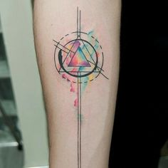 Abstract water color tattoo