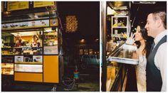 Food truck at the end of the wedding reception // found on Modern Jewish Wedding Blog // Photographer:  Zorz Studios Wedding Reception Appetizers, Mini Burgers, Food Truck, Wedding Blog, Studios, Modern, Mini Hamburgers, Trendy Tree, Food Carts