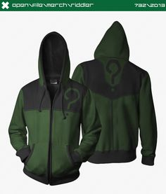 Riddler Hoodie by seventhirtytwo on deviantART CONCEPT ONLY, SADLY NOT FOR SALE