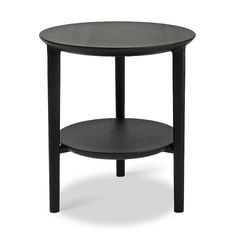Ethnicraft Black Side Table, Metal Side Table, Side Tables, Window Coffee Table, Wood Sample, Round Beds, Table Dimensions, Mid Century Modern Furniture, Black Wood