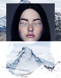 • collage by Nor Laura • Ethereal - by Alex Evans • Matterhorn, Switzerland