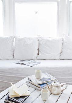 All white home decor