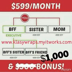 RUBY bonus has doubled to $1000 ... I 'm on way to achieving my dreams and impacting lives all around Me.  How much could you achieve with a #RubyBonus worth $1000.  If you have been thinking of ways to earn extra cash now isyour time!  Become part of my business team and let me train you how you can get the #RubyBonus  I'd love to have you on my team  Give Me a text NOW to get you started ** Sasha **(210) 802-5833 - Shy or reserved - email me privately -klasywraps@yahoo.com  You can enroll…