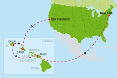 """""""Ich war noch niemals in New York, ich war noch niemals auf Hawaii, ging nie durch San Francisco in zerschlissnen Jeans..."""" Bitte änder das, #lieberDschinni!!!! Im nächsten Jahr habe ich 6-8 Wochen Zeit und würde gerne mit Mann und Kind San Francisco, das hawaiianische Inselarchipel und New York erkunden :D"""