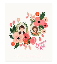 Custom coral floral print by Rifle Paper Co. (via Married to Ginger).