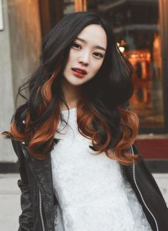 Increíble largo de color de pelo ondulado por asiáticos Peinados