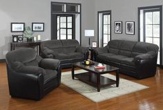 Connell Casual Dark Grey Corduroy & Espresso Pu Sofa by Acme Furniture Leather Sofa Couch, Living Room, Living Room Sets, Furniture, Living Room Leather, Leather Living Room Furniture, Elegant Living Room, Couch And Loveseat, Room