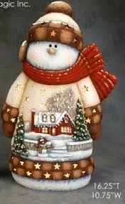 Resultado de imagen para muñecos de nieve navideños en ceramica