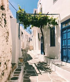 Wandering through a real-life postcard 💙💚 • • • #kastro #sifnos #greece #cyclades #postcard #white #blue #green  #holidays
