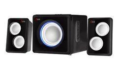 Sykik SP0232BK Bluetooth Wireless Streaming 2.1 Stereo Speaker System Black NEW