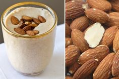 Will probably substitute almond milk but this looks delicious! Heathy Drinks, Healthy Dessert Recipes, Healthy Smoothies, Smoothie Recipes, Healthy Snacks, Healthy Breakfasts, What To Cook, Different Recipes, Soul Food