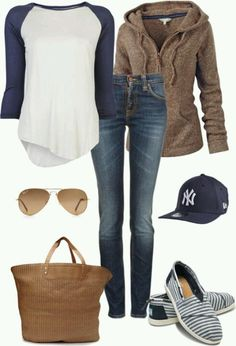 Love everything bu the yankees hat. LOLO Moda: Trendy women outfits 2013 Love everything bu the yankees hat. LOLO Moda: Trendy women outfits 2013 - My Accessories World Looks Style, Style Me, Chill Style, Look Fashion, Womens Fashion, Fall Fashion, Fashion 2018, Latest Fashion, Fashion Beauty