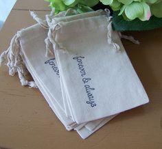 12 Wedding Muslin Favor BagsBride Groom Favors by sugarplumcottage, $12.95