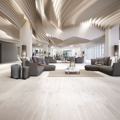 Parametrisches Design, Mall Design, Showroom Design, Corporate Interior Design, Corporate Interiors, Office Interiors, W Hotel, Interior Ceiling Design, Hotel Lobby Design